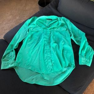 Dark Mint Green Button Up